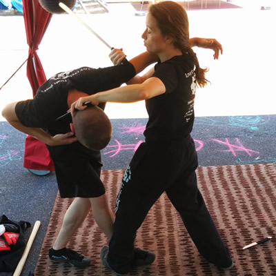 Filipino Martial Arts at the Ethos Spring Fling Booth